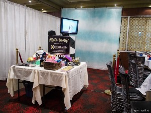 Photo booth setup at the Forbidden City in Calgary