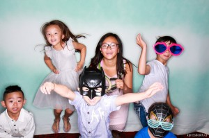 Kids having fun with the Photo Booth