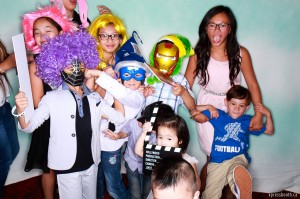 Super heroes photo booth fun