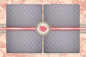 Pink Blush Postcard Photo Booth Layout