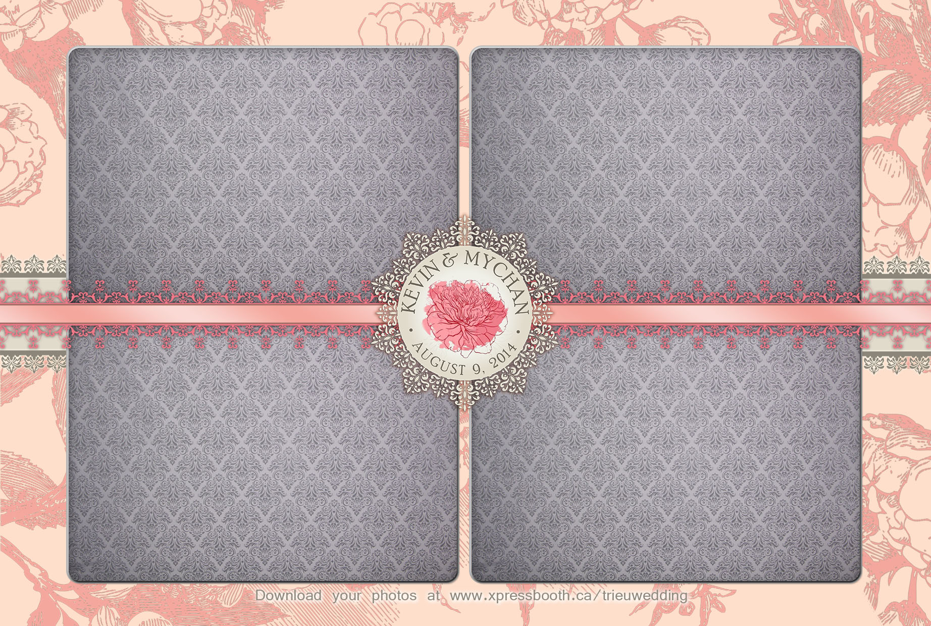 Pink Blush Wedding Xpressbooth Photo Booth Calgary