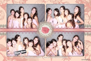 Pink Blush Wedding Photo Booth Layout - the Bride and Bridesmaids! Bridal Party