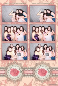 Pink Blush Double Strip Photo Booth Layout