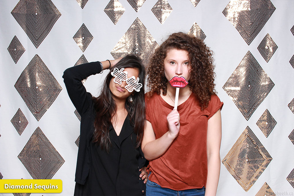 Photo Booth Backdrop Diamond Gold Sequins
