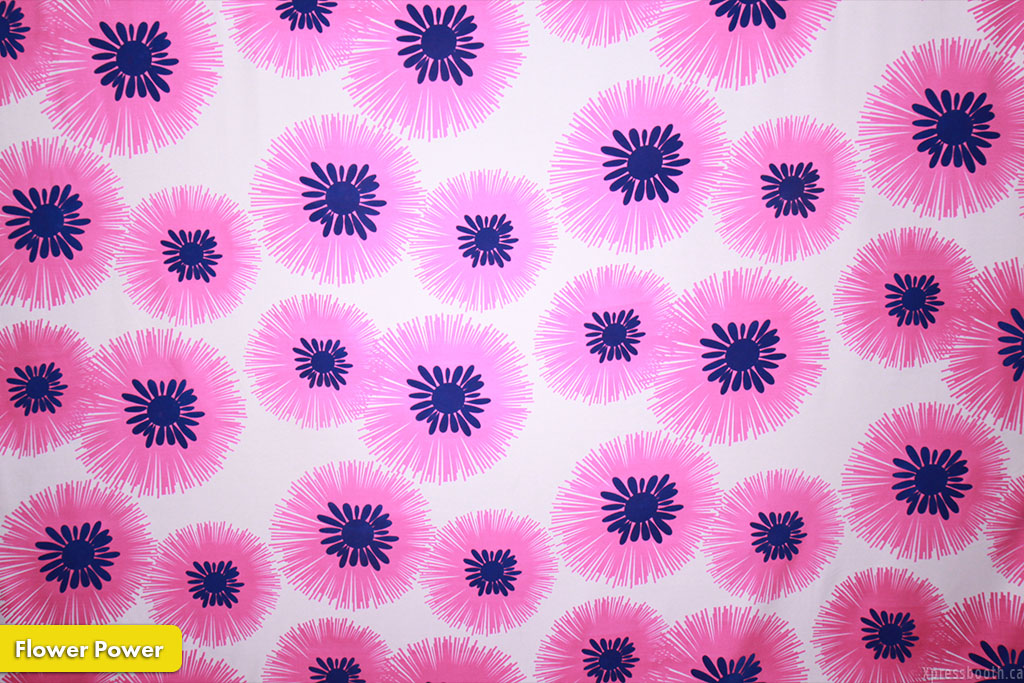 Photo Booth Backdrop Flower Power