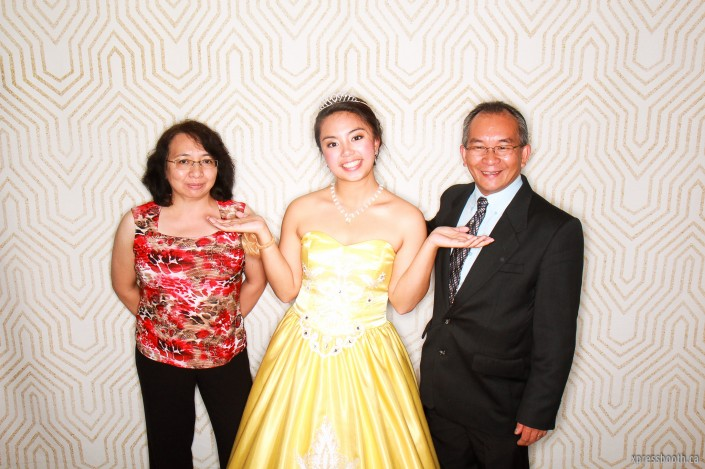 Debutante with guests