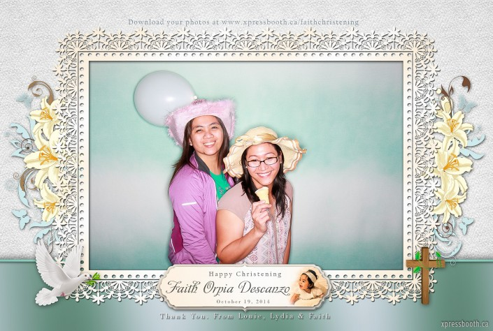 Two girls rocking it out in the photo booth