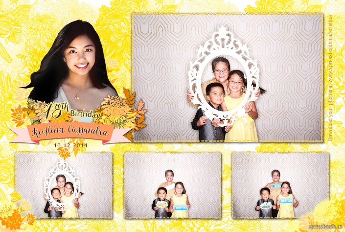 Photo booth layout - 4 images