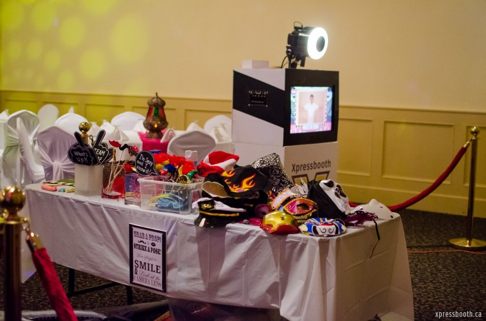 Photo booth setup at The Magnolia, in Calgary