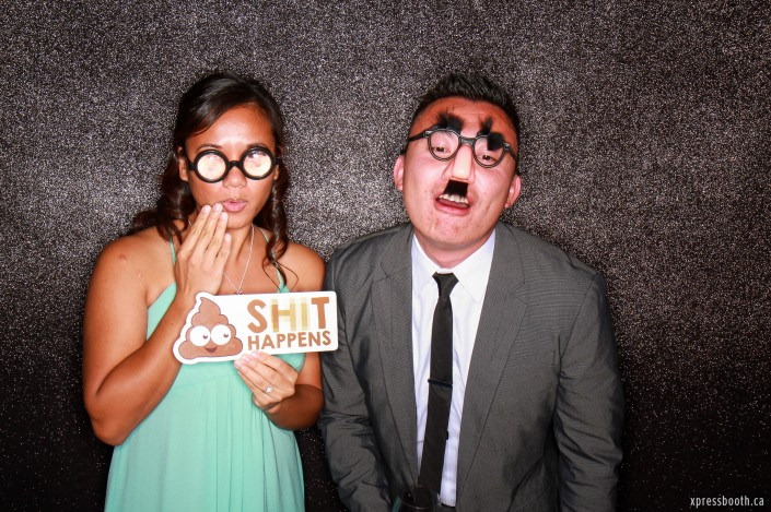 Wacky couple, one of our past clients from a wedding in Azuridge, Priddis, AB