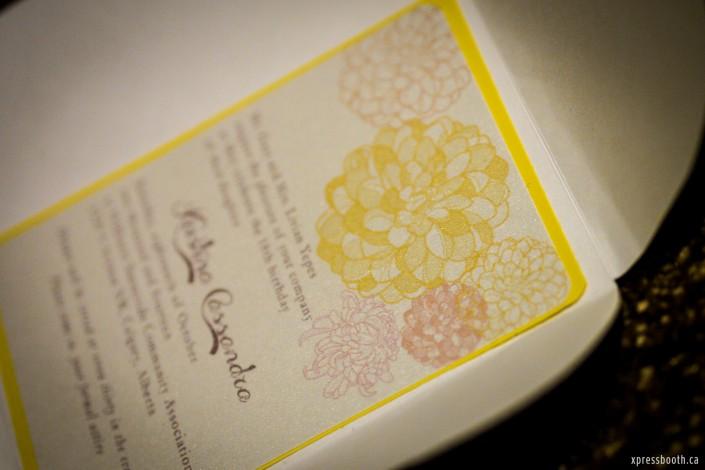 Yellow Floral Chrysanthemum Debut Invitation