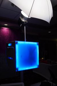 Photo booth LED lights back