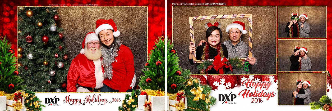 DXP Kids Christmas Party Santa Photo Booth at the Telus Spark