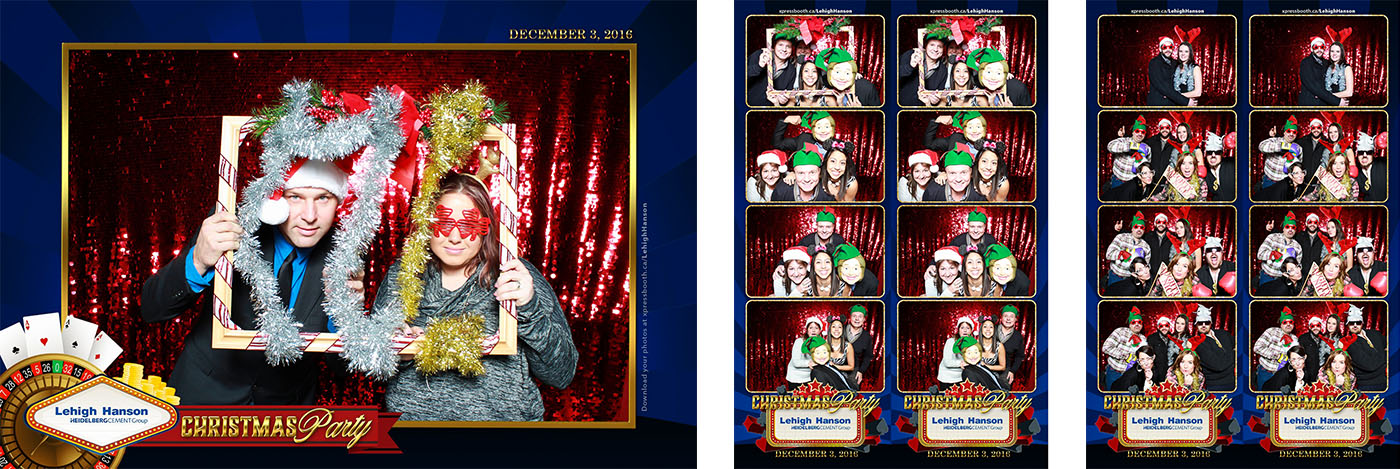 Casino-themed Christmas Party Photo Booth at the Telus Spark