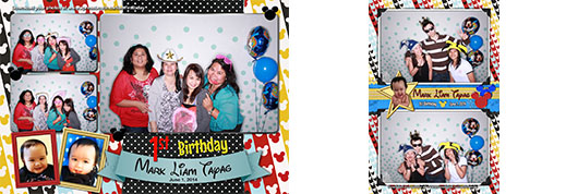 Liam's First Birthday Photo Booth in Calgary