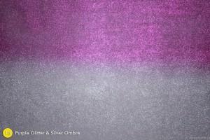 Purple Glitter & Silver Ombre Photography Backdrop