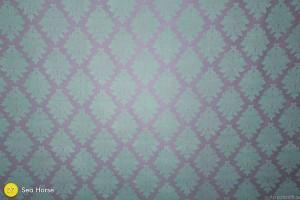 Sea Horse (Mint/Blue & Gray Damask) Photography Backdrop