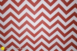 Chevron Copper/Red & White Photography Backdrop