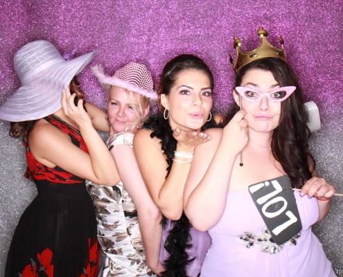 Purple, Silver Paisley Wedding - Calgary Photo Booth
