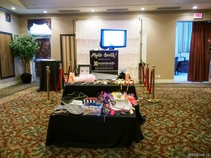 Hollywood style Photo booth setup at the Carriage House Inn
