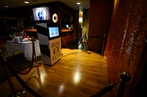 Open concept or open air photo booth at the Bow Valley Club, Calgary