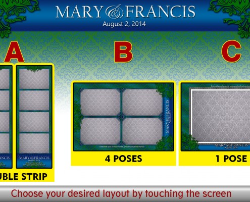 Multiple Layout Choice for Mary and Francis' Photo Booth in High River, AB