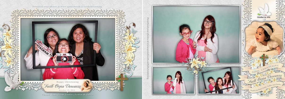 Faith Christening Photo Booth images - Brooks, AB
