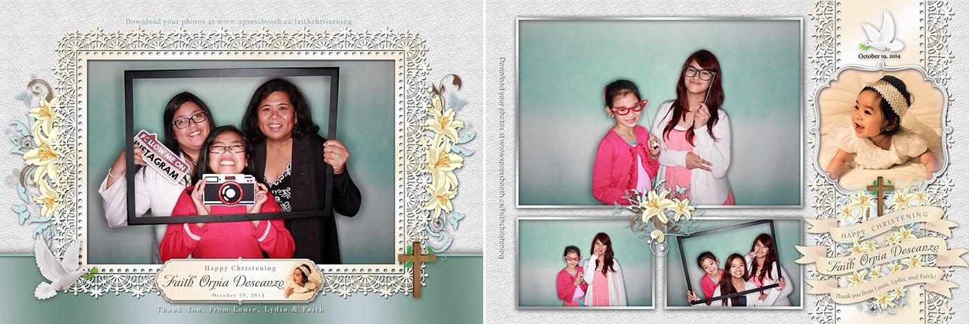 Faith Christening Photo Booth images - Brooks, AB
