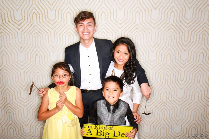 Siblings in the photo booth