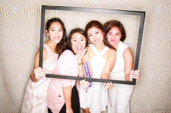 Ladies in the photobooth