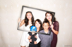 Siblings in the photobooth