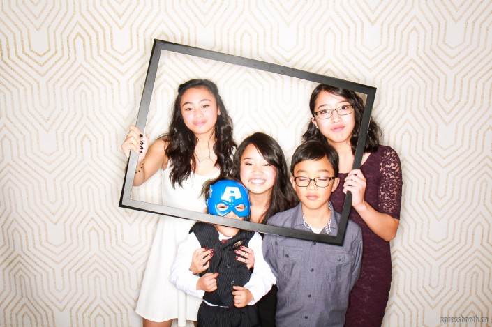 Siblings in the photobooth