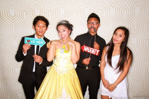 The debutante and her friends