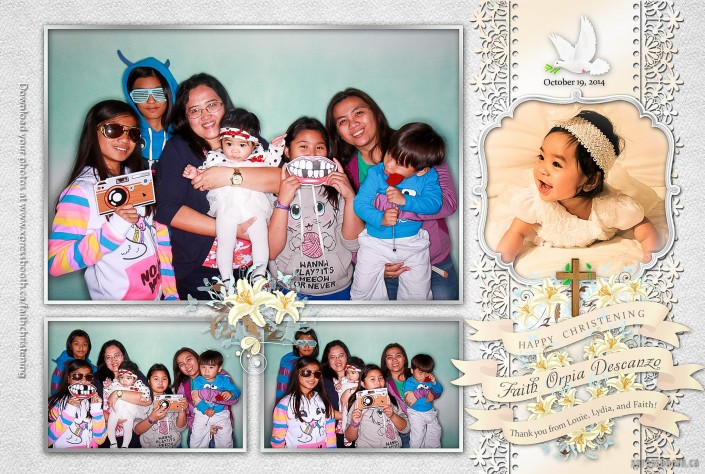 Kids having awesome fun in the photo booth