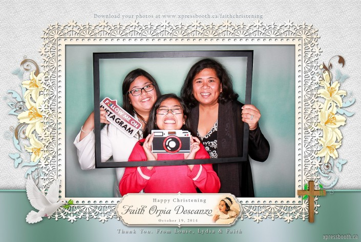 Photo booth signs and frame