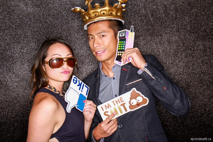 King crown, facebook like and telephone photo booth signs