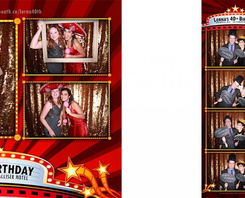 Lorna's 40th Birthday Photo Booth Pictures - Fairmont Palliser, Calgary