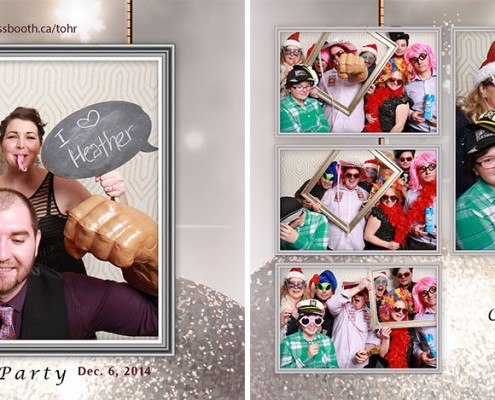 Town of High River Christmas party Photo booth at the Highwood Memorial Centre in High River, AB