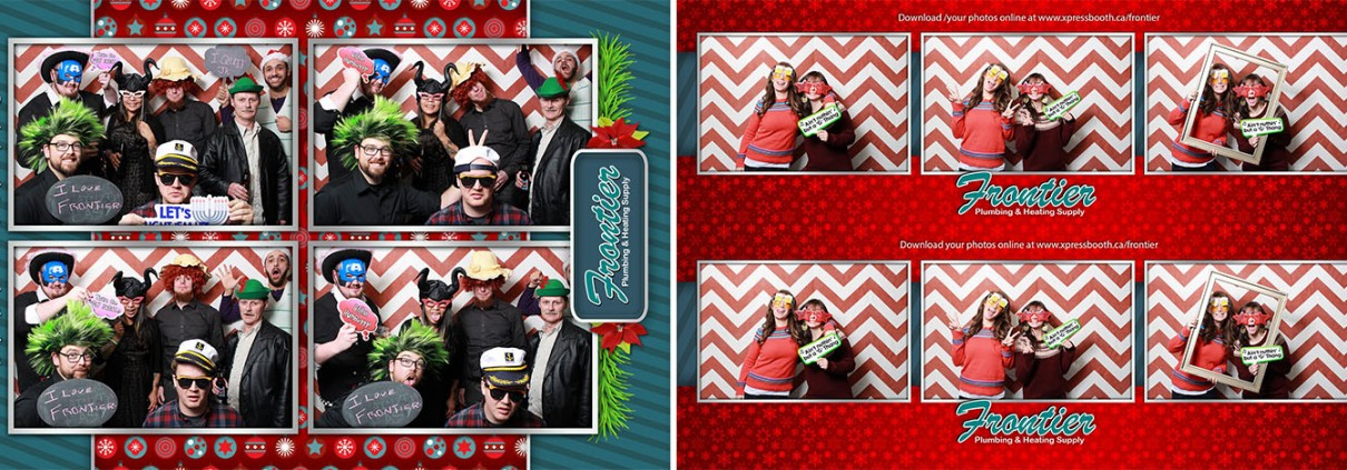 Frontier's photo booth pictures from their Christmas party at the Kensington Legion
