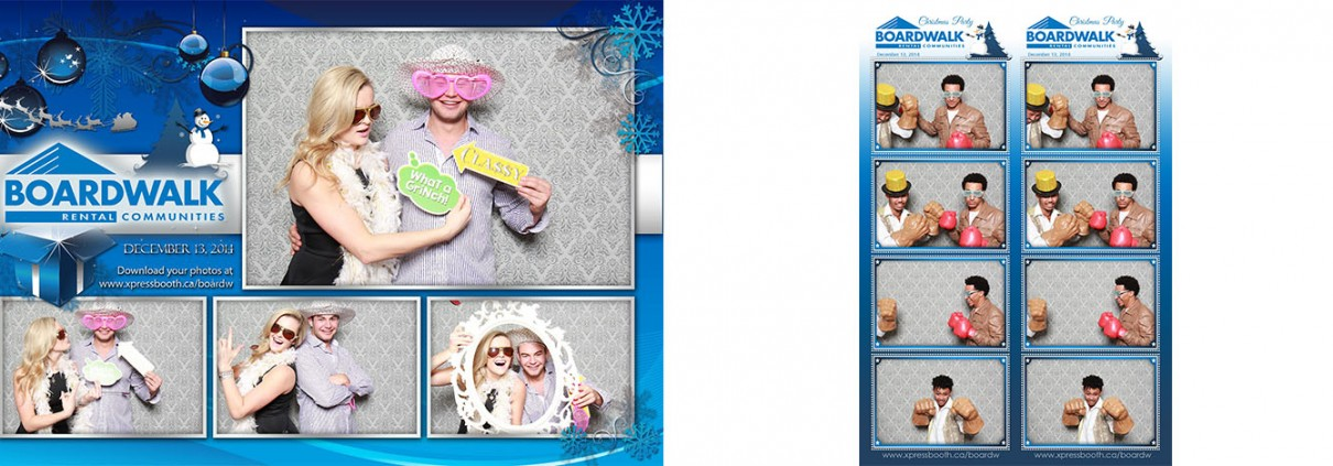 Boardwalk Christmas party photo booth images - The Metropolitan Conference Centre in Calgary