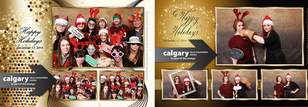 Calgary Telus Convention Centre Staff Christmas Party - Photo booth images
