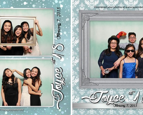 Joyce 18th Birthday Debut Photo Booth Pictures