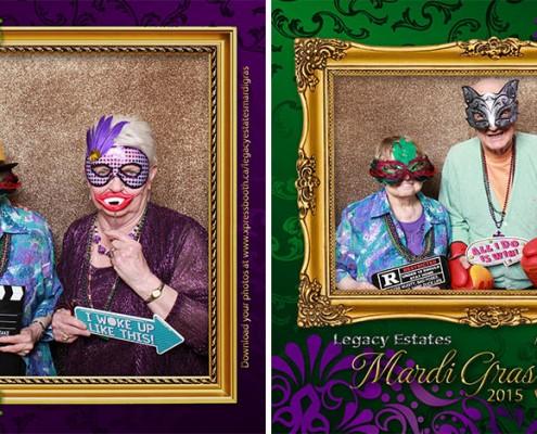 Legacy Estates Mardi Gras Photo Booth
