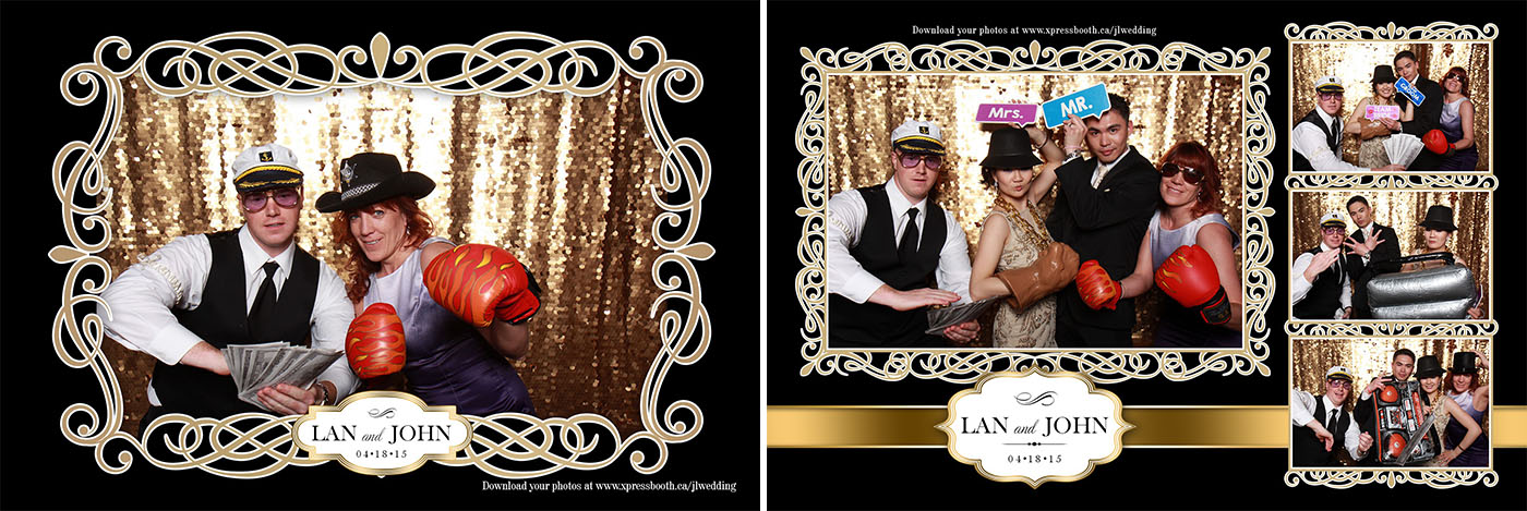 Photobooth pictures from Lan & John's Wedding at The Lake House in Calgary
