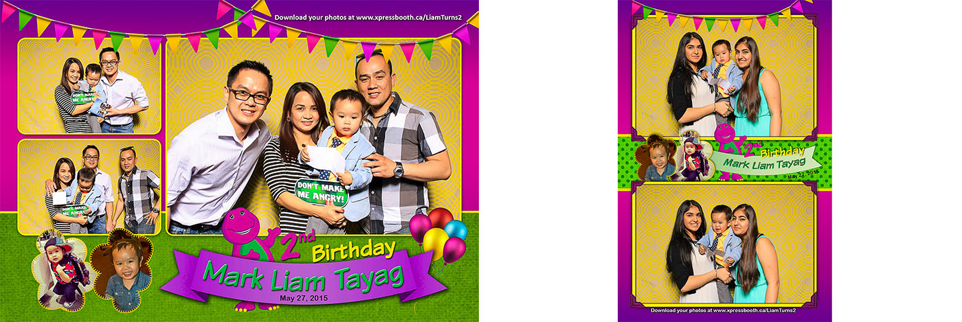 Liam 2nd Birthday Party Photo Booth for Kids