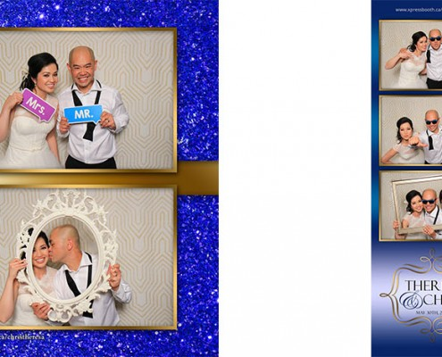 Chris and Theresa's Wedding Photo Booth at the Regency Palace in Calgary