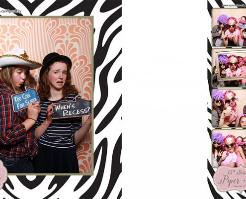 Photo Booth at Piper & Lily's 13th Birthday Party