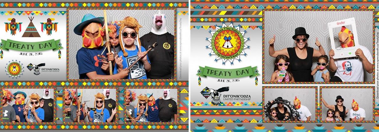 First Nations Photo Booth for Treaty Day at the Gray Eagle Casino Event Centre