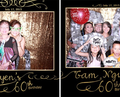 60th Birthday Gold Sequins Photo Booth