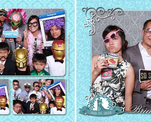 Brian & Michelle's photo booth gallery from their wedding at the Silver Dragon Restaurant